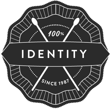Badge 'Identity since 1987'