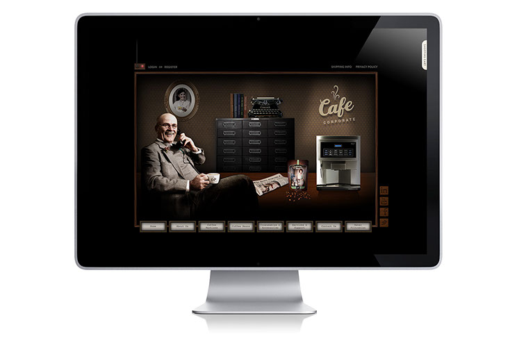 Web site design for Cafe Corporate by Dessein, Australia.