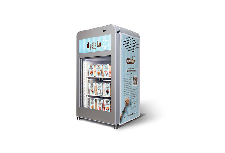 Fridge display design and illustrations for il gelato by Dessein, Australia