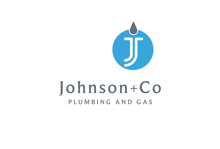 Johnson and Co. Plumbing and Gas logo design by Dessein, Australia