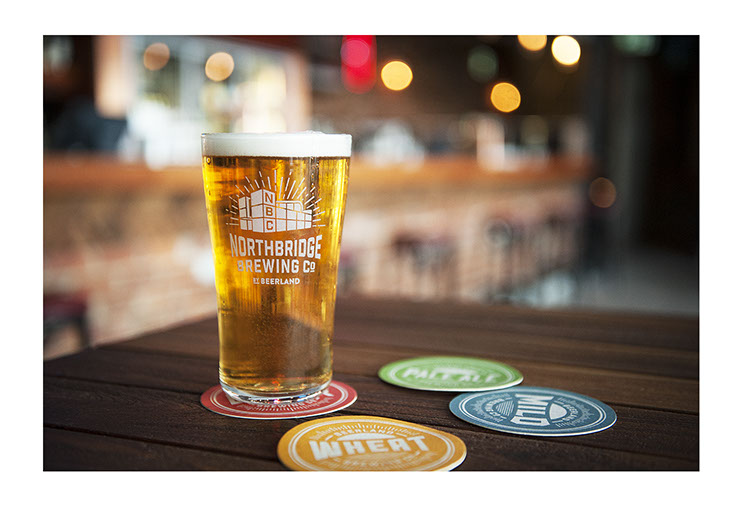Northbridge Brewing Co. Beer brewery Logo and Coasters Designs for different beers, by Dessein, Australia.