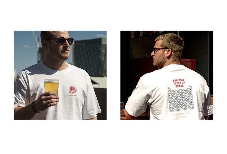 Northbridge Brewing Co. Beer brewery T-Shirt Designs as part of branding and identity recognition by Dessein, Australia.