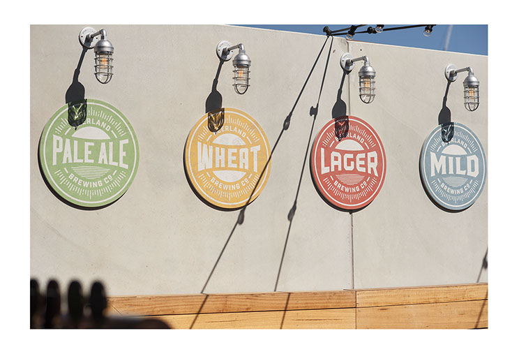Northbridge Brewing Co. Beer brewery, bar and restaurant. Outdoor signage designs for different brands of beer, designed by Dessein, Australia.