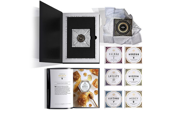 The box: Percival Printing & Packaging boxed marketing kit designed with different elements by Dessein, Australia.