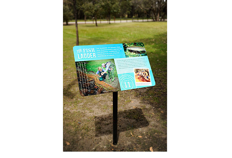 Large sign for Woodland Reserve area at Whiteman Park. Museum and wildlife park Signage dessein by Dessein, Australia.